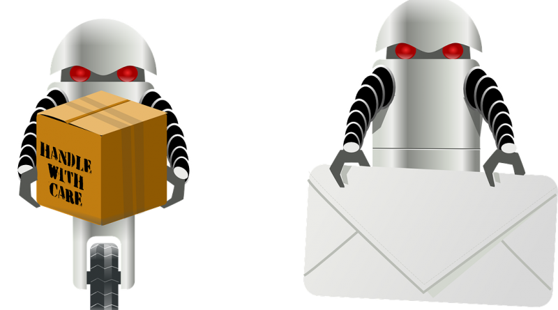 Roboter Postbote